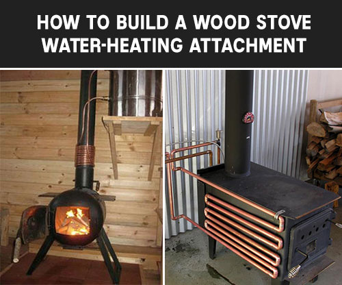 DIY wood stove water heating pipe attachment