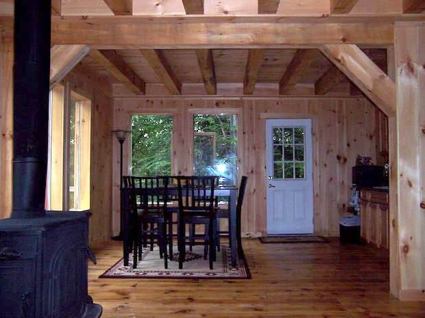 Off grid cottage interior