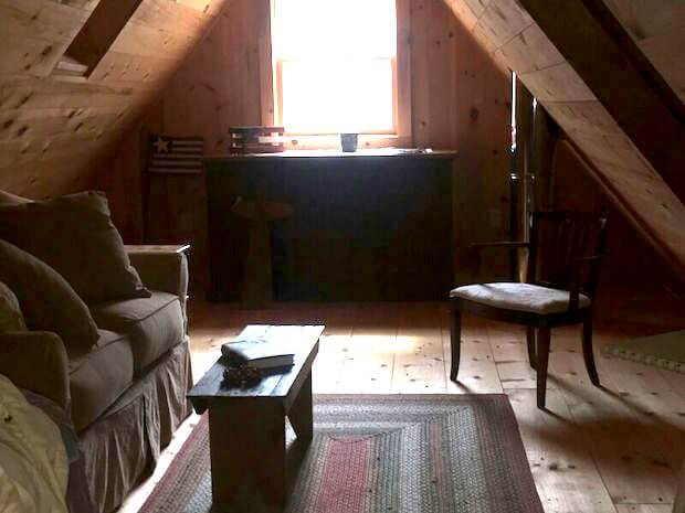 Off grid cottage loft