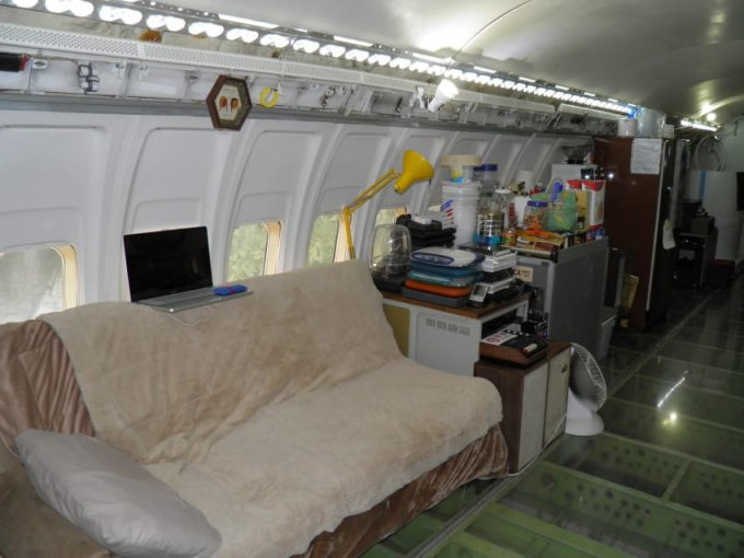 Airplane home interior