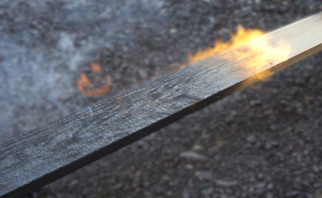 Wood charring