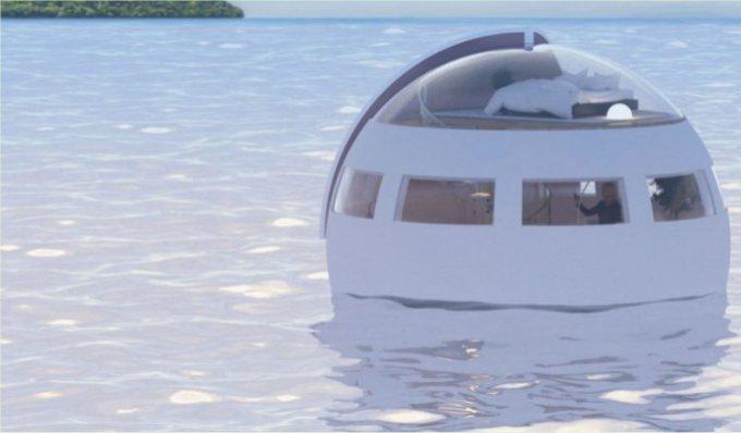 Floating capsule