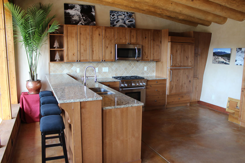 Earthship kitchen