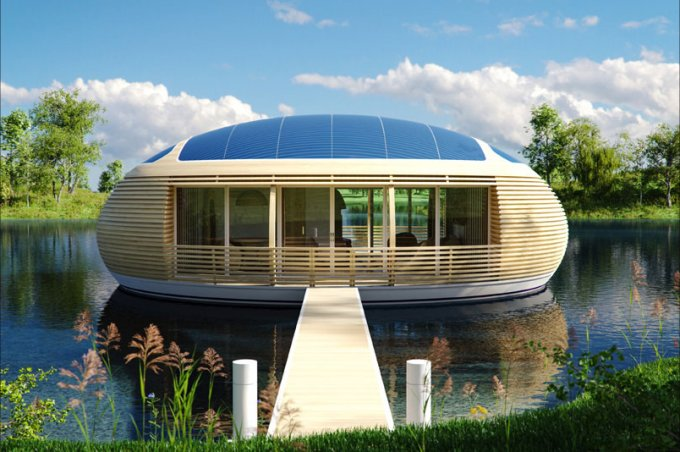 Off grid floating house
