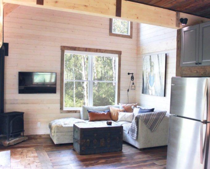Rustic cabin inside