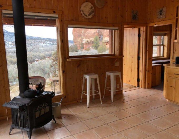 Cliff cabin stove
