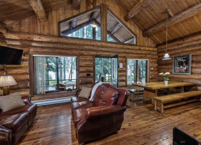 Forest cabin interior