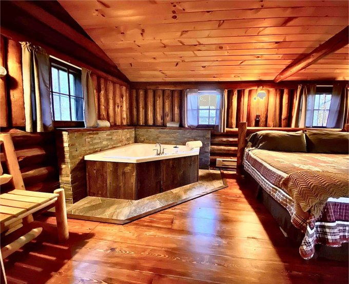 Peaceful Oasis log cabin