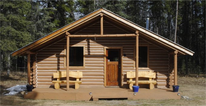 Wilderness log cabin